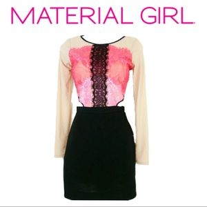 Material Girl Albany color block & side cut out